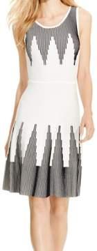 Calvin Klein Women's Sleeveless Printed Sweater Dress