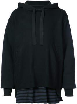 Longjourney layered hoodie