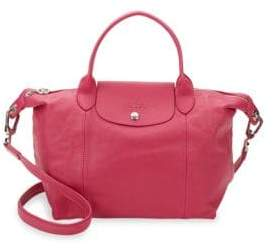 Longchamp Le Pliage Cuir Small Top Handle Bag - PINK - STYLE