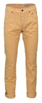 Jeckerson Men's Orange Cotton Pants.