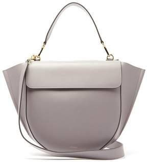 Hortensia Wandler Large Leather Shoulder Bag - Womens - Grey