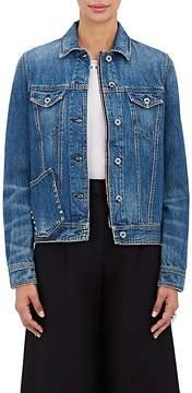 Valentino Women's Studded-Pocket Denim Jacket