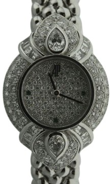 Audemars Piguet 18K White Gold & Diamond 22mm Watch