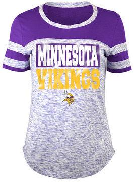 5th & Ocean Women's Minnesota Vikings Space Dye Foil T-Shirt