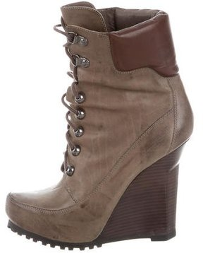 Jean-Michel Cazabat Round-Toe Wedge Boots