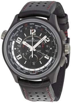 Jaeger-LeCoultre Jaeger Lecoultre Amvox Worldtime Automatic Chronograph Black Dial Black Leather Men's Watch