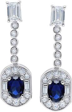 Crislu Juliet Platinum Plated Cz Drop Earrings