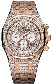 Audemars Piguet Royal Oak Offshore 18K Pink Gold Diamond Men's Watch