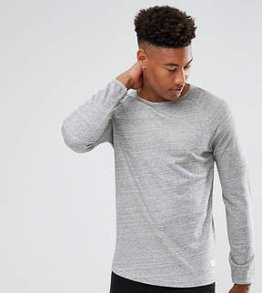 Selected TALL Long Sleeve T-Shirt With Raglan Sleeve And Curved Hem