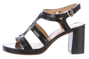 A.P.C. Patent Leather Slingback Sandals
