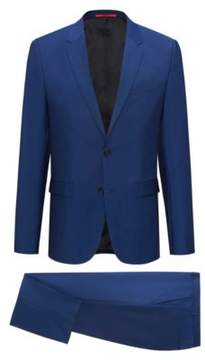HUGO Boss Wool Mohair Suit, Extra Slim Fit Arti/Hesten 46R Open Blue