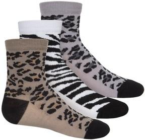 Jefferies Socks Animal Socks - 3-Pack, Crew (For Toddlers and Little Girls)