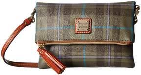 Dooney & Bourke Tiverton Foldover Zip Crossbody Cross Body Handbags - CRANBERRY/TAN TRIM - STYLE