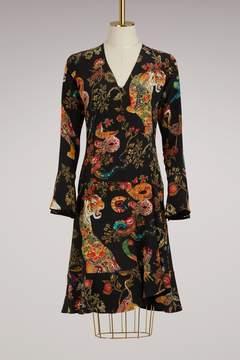 Etro Long-Sleeved Short Dress