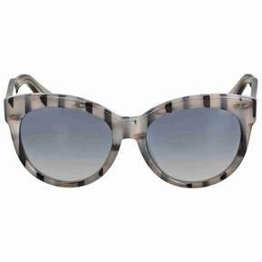 Gucci Asian Fit Gray Striped Sunglasses