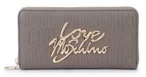 Love Moschino Zip-Around Faux Leather Wallet