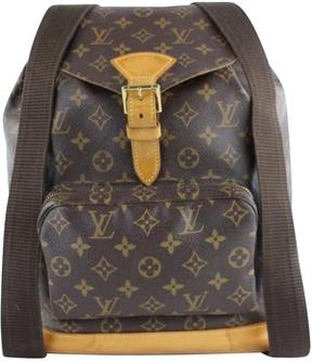 Louis Vuitton Montsouris cloth backpack - BROWN - STYLE