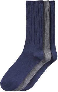 Joe Fresh Men's 3 Pack Ribbed Socks, JF Midnight Blue (Size 10-13)