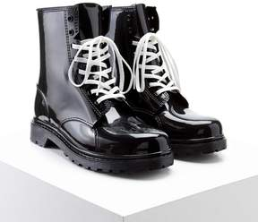 Forever 21 Lace-Up Rain Boots