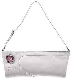 Giuseppe Zanotti Embellished Satin Evening Bag
