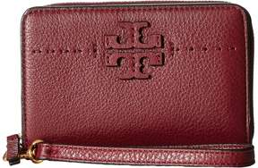 Tory Burch McGraw Bifold Wallet Bill-fold Wallet - BLACK - STYLE