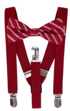 Lord & Taylor Boy's Two-Piece Silk Stripe Bow Tie and Suspender Set