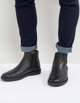 Zign Shoes Leather Chelsea Boots In Black
