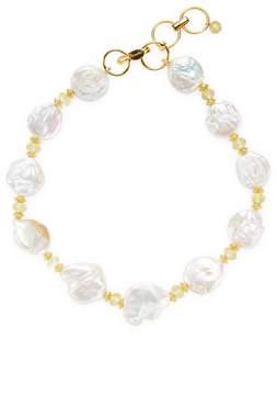 Bounkit Women's Pearl & Quartz Station Necklace
