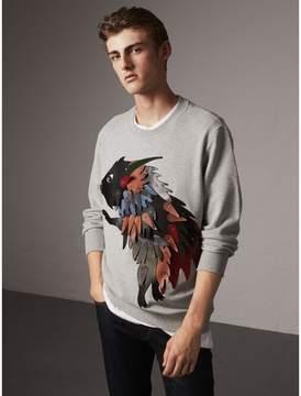 Burberry Unisex Beasts Leather Appliqué Cotton Sweatshirt