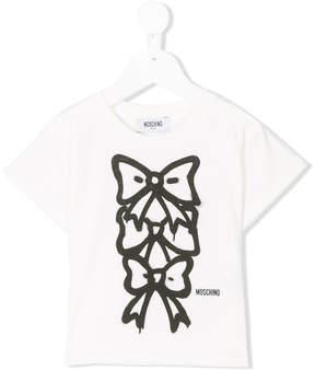 Moschino Kids bow print T-shirt