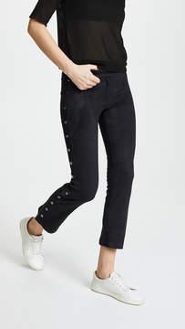 David Lerner Flare Pants with Side Snap Detail