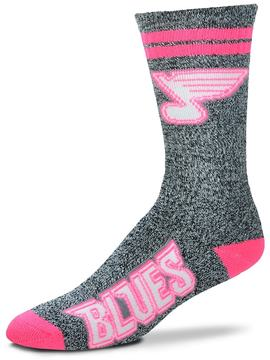 For Bare Feet Adult St. Louis Blues Crew Socks