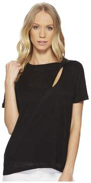 1 STATE 1.STATE Short Sleeve Knit Tee with Cut Out Women's T Shirt