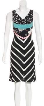 Christian Lacroix Silk-Trimmed Striped Dress