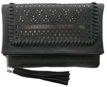 Chinese Laundry Isa Metallic Underlay Perforated Crossbody Clutch