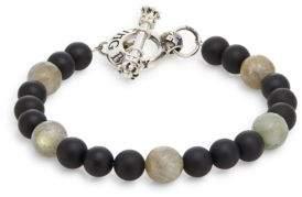 King Baby Studio Onyx, Labradorite & Sterling Silver Beaded Bracelet