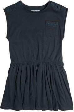 Zadig & Voltaire Embroidered Cotton Jersey Dress