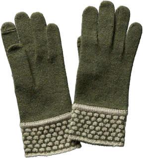 Portolano Women's Purple Cashmere Gloves