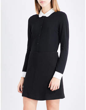 Claudie Pierlot Contrasting-collar jersey shirt