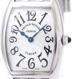 Franck Muller Cintree Curvex 1752QZ Quartz Stainless Steel 25mm Womens Dress Watch