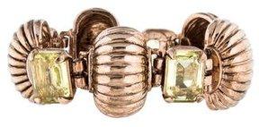 Isaac Mizrahi Crystal Ribbed Bracelet