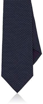 Ralph Lauren Purple Label Men's Square-Print Mulberry Silk Necktie