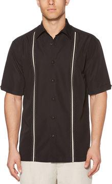 Cubavera Short Sleeve Insert Panels With Pickstitch Shirt
