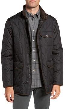 Hart Schaffner Marx Men's Mulberry Quilted Stand Collar Jacket