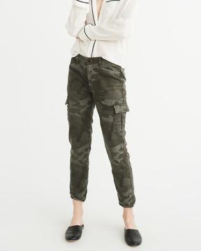 Abercrombie & Fitch Low-Rise Military Boyfriend Pants