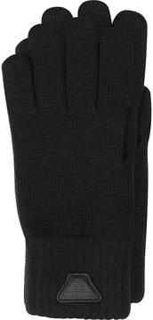 Armani Jeans Black Wool Blend Men's Gloves