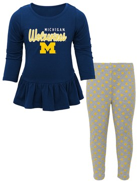 NCAA Baby Michigan Wolverines Tiny Trainer Tee & Leggings Set