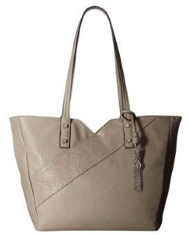 Jessica Simpson Womens Carra Faux Leather Shopper Tote Handbag