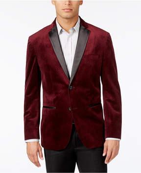 Alfani Men's Classic-Fit Textured Velvet Blazer, Created for Macy's