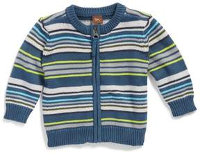 Tea Collection Gavin Stripe Zip Cardigan (Baby Boys)